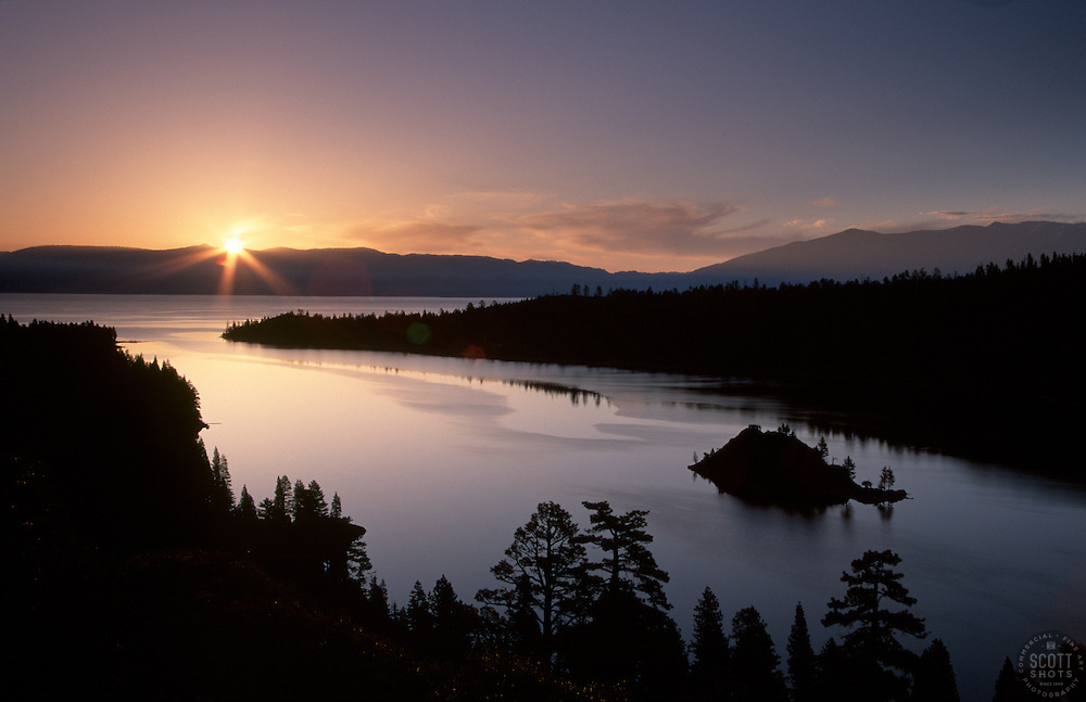 &quot;Emerald Bay Sunrise 1&quot;- This sunrise was photographed at Emerald Bay in Lake Tahoe, CA.<br />