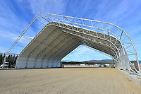 Hangar under construction
