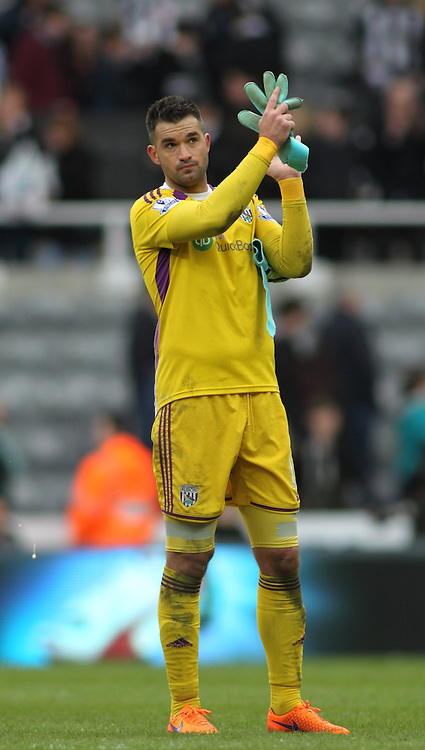 Boaz Myhill (GK) of West Bromwich Albion during the Barclays Premier League match at St. James's Park, Newcastle<br /> Picture by Stephen Gaunt/Focus Images Ltd +447904 833202<br /> 09/05/2015