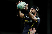 Hoani Matenga of Wellington collects a lineout throw during the Mitre 10 Competition match between Otago and Wellington at Forsyth Barr Stadium on August 25, 2016 in Dunedin, New Zealand. Credit: Joe Allison / www.Photosport.nz