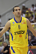 Maccabi Tel Aviv Basketball team (Yellow) Playing Hapoel Gilboa-Galil (Red) on October 16th 2011. Final result Maccabi 95 Hapoel 60 Tal Burstein