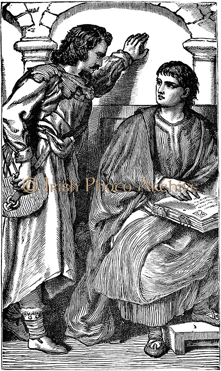Waldenses (Valdenses, Vaudois, Valdesi) Christian sect originating in 12th century France. Devotees followed Christ in simplicity and poverty. Persecuted by Rome. Waldenses missionary	roubador showing his vernacular Bible to a trusted visitor, c1170. 19th century engraving.