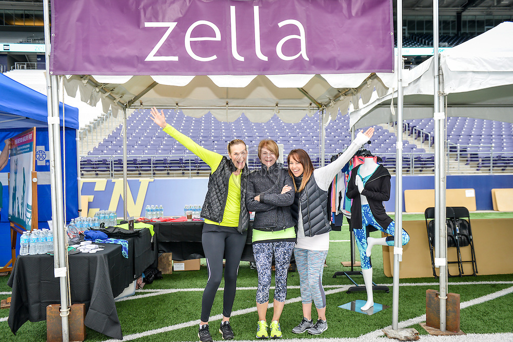 33rd Annual Nordstrom Beat the Bridge Run, May 2015, Seattle. Sponsor booth - Zella Activewear.