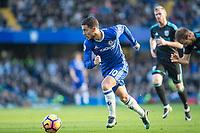 Football - 2016 / 2017 Premier League - Chelsea vs. WBA<br /> <br /> Eden Hazard of Chelsea races through the WBA midfield at Stamford Bridge.<br /> <br /> COLORSPORT/DANIEL BEARHAM