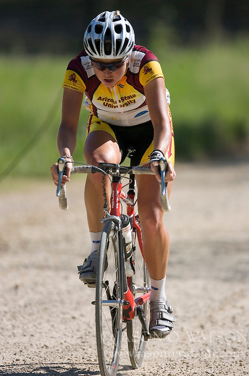 The 2007 USA Cycling Collegiate Road Championship road race was held at Lake Perry, Kansas on May 12, 2007.  The Women's Division 1 and 2 races completed two laps of the course for a total of approximately 58 miles while the Men's races did three laps for approximately 87 miles.