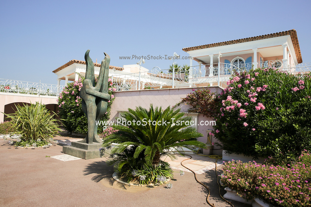 the garden of a Summer vacation home on the French Riviera, Sainte-Maxime, France