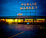 Seattle's Pike Place Market Before Dawn