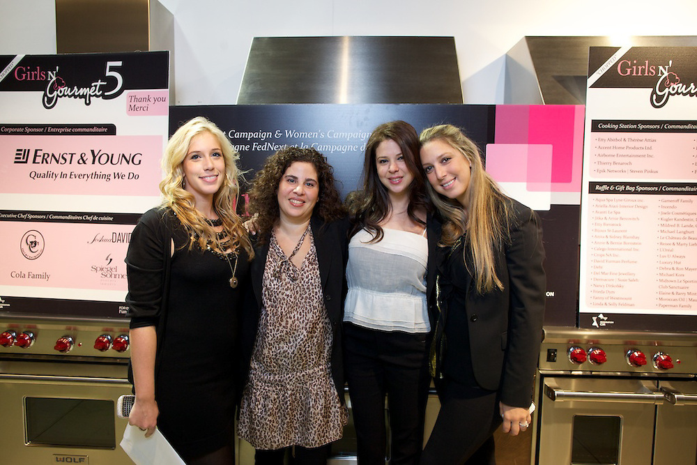 """Federation CJA, FedNext Campaign, and Women's Philanthropy host the 5th annual Girls N Gourmet event at the Maroline Showroom in Ville Saint Laurent on November 1st, 2010. The event featured a cocktail di?natoire followed by a show inspired by The Food Network's """"Chopped"""", competing two teams of chefs against one another."""
