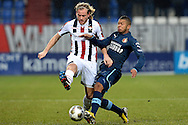 Onderwerp/Subject: Eredivisie<br /> Reklame:  <br /> Club/Team/Country: <br /> Seizoen/Season: 2012/2013<br /> FOTO/PHOTO: Niek VOSSEBELT (L) of Willem II in duel with Tonny TRINDADE DE VILHENA (R) of Feyenoord. (Photo by PICS UNITED)<br /> <br /> Trefwoorden/Keywords: <br /> #04 $94 &plusmn;1354627667242<br /> Photo- &amp; Copyrights &copy; PICS UNITED <br /> P.O. Box 7164 - 5605 BE  EINDHOVEN (THE NETHERLANDS) <br /> Phone +31 (0)40 296 28 00 <br /> Fax +31 (0) 40 248 47 43 <br /> http://www.pics-united.com <br /> e-mail : sales@pics-united.com (If you would like to raise any issues regarding any aspects of products / service of PICS UNITED) or <br /> e-mail : sales@pics-united.com   <br /> <br /> ATTENTIE: <br /> Publicatie ook bij aanbieding door derden is slechts toegestaan na verkregen toestemming van Pics United. <br /> VOLLEDIGE NAAMSVERMELDING IS VERPLICHT! (&copy; PICS UNITED/Naam Fotograaf, zie veld 4 van de bestandsinfo 'credits') <br /> ATTENTION:  <br /> &copy; Pics United. Reproduction/publication of this photo by any parties is only permitted after authorisation is sought and obtained from  PICS UNITED- THE NETHERLANDS