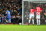 Lionel Messi of Argentina scores his team's second goal against Croatia to make it 2-1 during the International Friendly match at the Boleyn Ground, London<br /> Picture by David Horn/Focus Images Ltd +44 7545 970036<br /> 12/11/2014