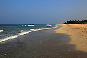 Ocean and sandy tropical beach at  Nilavelli, Trincomalee, Sri Lanka, Asia