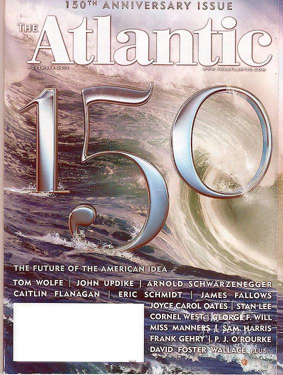 The Atlantic Magazine 150th Anniversary issue cover of Waimea Bay Shorebreak