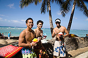 Shave Ice, Waikiki Beach,Honolulu, Oahu, Hawaii