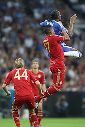 19.05.2012, Allianz Arena, Muenchen, GER, UEFA CL, Finale, FC Bayern Muenchen (GER) vs FC Chelsea (ENG), im Bild Bayern's German defender Jerome Boateng and Chelsea's Ivory Coast forward Didier Drogba in action during the Final Match of the UEFA Championsleague between FC Bayern Munich (GER) vs Chelsea FC (ENG) at the Allianz Arena, Munich, Germany on 2012/05/19. EXPA Pictures © 2012, PhotoCredit: EXPA/ Mitchel Gunn