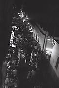 A San Antonio street at night, Ibiza, Spain, 1984