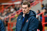Exeter City manager Matt Taylor in the technical area during the EFL Sky Bet League 2 match between Exeter City and Grimsby Town FC at St James' Park, Exeter, England on 29 December 2018.