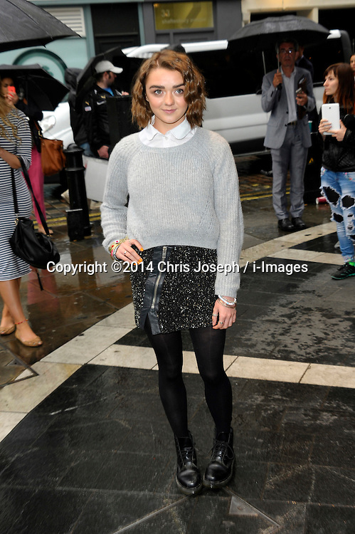 Image ©Licensed to i-Images Picture Agency. 08/07/2014. London, United Kingdom. Maisie Williams during the press night for 'The Curious Incident Of The Dog In The Night-Time' at Gielgud Theatre. Picture by Chris Joseph / i-Images