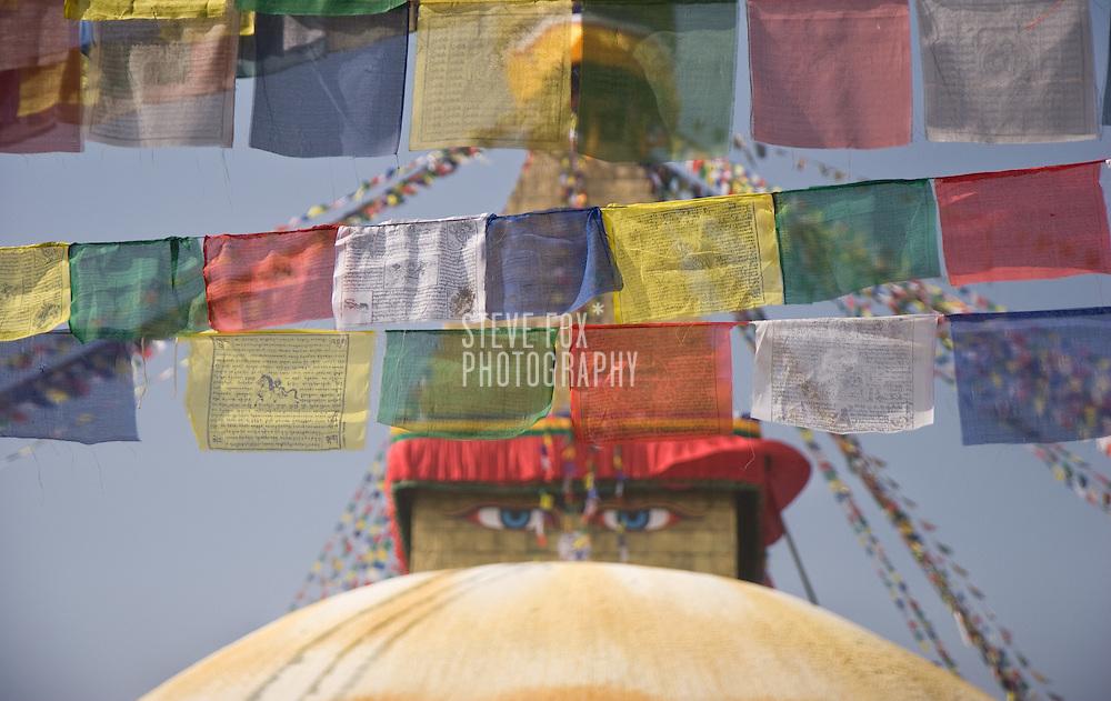Prayer Flags at Boudinath, Kathmandu, Nepal