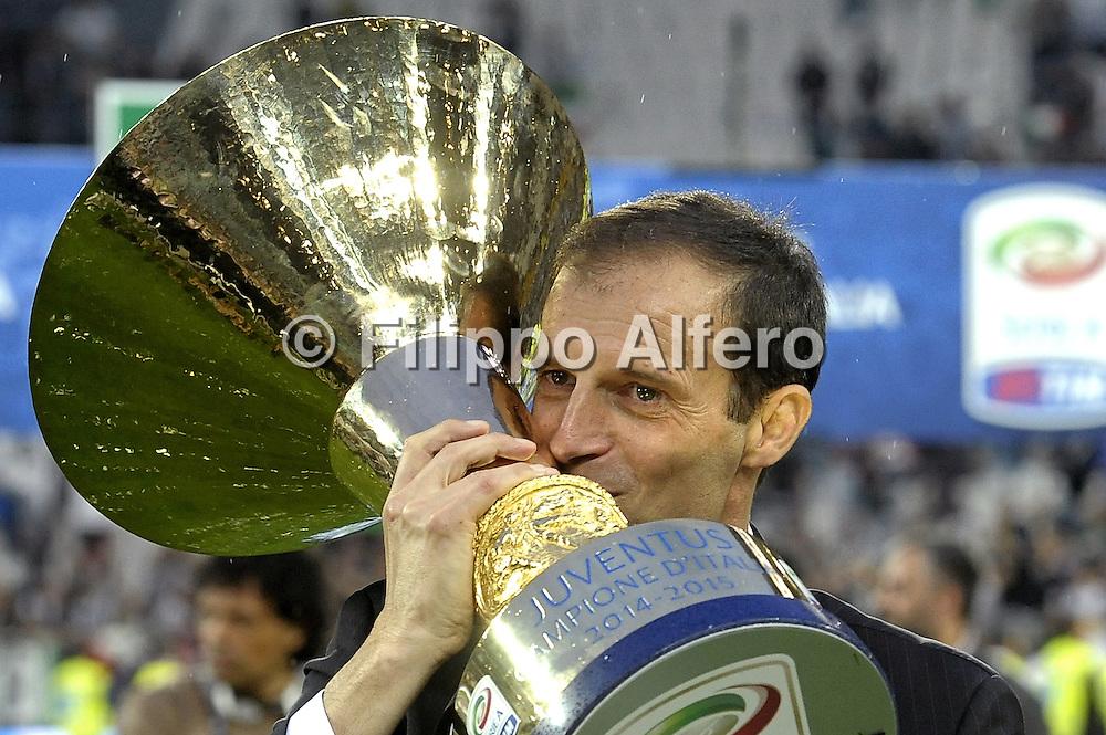 &copy; Filippo Alfero<br /> Juventus-Napoli, Serie A 2014/2015 e assegnazione Coppa Scudetto<br /> Torino, 23/05/2015<br /> sport calcio<br /> Nella foto: