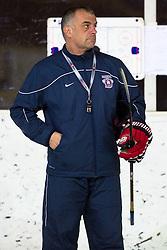Matjaz Kopitar, head coach of Slovenia, at first practice of Slovenian National Ice Hockey team before EIHC tournament in Innsbruck, on November 4, 2013 in Ledena dvorana Bled, Bled, Slovenia. (Photo by Matic Klansek Velej / Sportida.com)