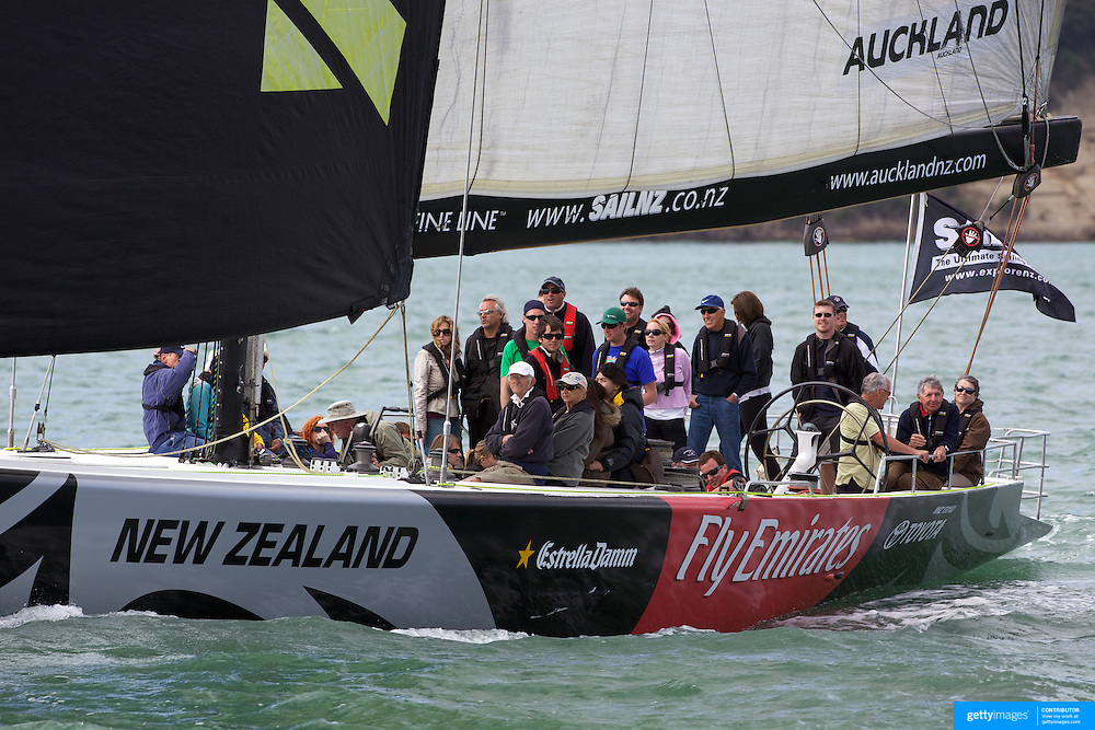 America's Cup Yacht NZL41 sailing with tourists on Auckland Harbour from the Viaduct Basin. Auckland, New Zealand, 2nd November 2010. Photo Tim Clayton