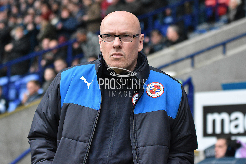 Reading Manager, Brian McDermott  during the Sky Bet Championship match between Bolton Wanderers and Reading at the Macron Stadium, Bolton, England on 2 April 2016. Photo by Mark Pollitt.