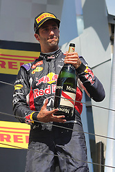 26.07.2015, Hungaroring, Budapest, HUN, FIA, Formel 1, Grand Prix von Ungarn, das Rennen, im Bild Daniel Ricciardo (Infiniti Red Bull Racing/Renault) // during the race of the Hungarian Formula One Grand Prix at the Hungaroring in Budapest, Hungary on 2015/07/26. EXPA Pictures &copy; 2015, PhotoCredit: EXPA/ Eibner-Pressefoto/ Bermel<br /> <br /> *****ATTENTION - OUT of GER*****