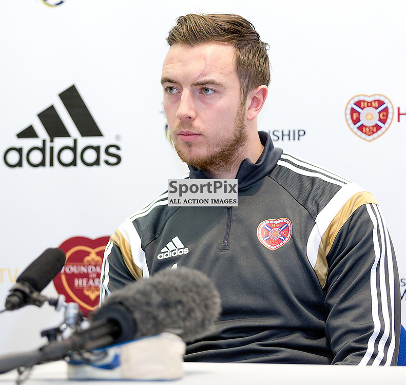 Heart of Midlothian Football Club Media Conference 31 December 2014; Heart's captain Danny Wilson during the Heart of Midlothian Football Club Media conference at Hearts Riccarton Training Ground, Edinburgh to preview the club's Scottish Championship match against Hibernian at Tynecastle on Saturday 3 January 2015;