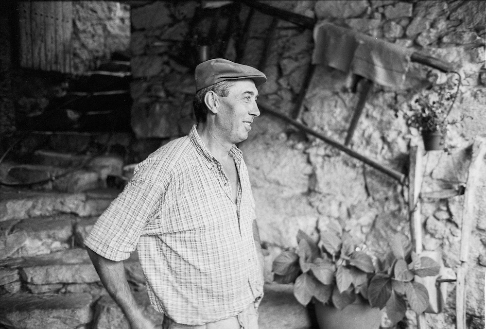 A farmer and cheesemaker at his farm near the town of Lasalle in the Cévennes in the south of France.