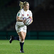 Rachael Burford in action, England Women v France Women in an Old Mutual Wealth Series, Autumn International match at Twickenham Stoop, Twickenham, England, on 9th November 2016. Full Time score 10-5