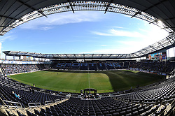 Dec 7, 2013; Kansas City, KS, USA; A general view of the stadium interior before the 2013 MLS Cup between the Real Salt Lake and the Sporting KC at Sporting Park. Mandatory Credit: Denny Medley-USA TODAY Sports