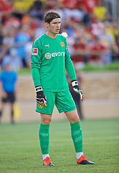 SOUTH BEND, INDIANA, USA - Friday, July 19, 2019: Borussia Dortmund's goalkeeper Marwin Hitz during a friendly match between Liverpool FC and Borussia Dortmund at the Notre Dame Stadium on day four of the club's pre-season tour of America. (Pic by David Rawcliffe/Propaganda)