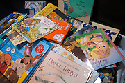 Book donations during the Summer Leadership Institute at Reliant Center, June 19, 2014.