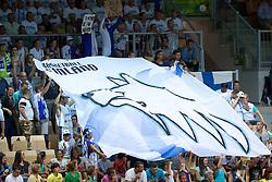 04.09.2013, Arena Bonifka, Koper, SLO, Eurobasket EM 2013, Tuerkei vs Finnland, im Bild Fans of Finnland // before Eurobasket EM 2013 match between Turkey and Finland at Arena Bonifka in Koper, Slowenia on 2013/09/04. EXPA Pictures © 2013, PhotoCredit: EXPA/ Sportida/ Matic Klansek Velej<br /> <br /> ***** ATTENTION - OUT OF SLO *****