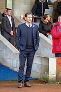 York City Manager Jackie McNamara  during the The FA Cup match between Accrington Stanley and York City at the Fraser Eagle Stadium, Accrington, England on 7 November 2015. Photo by Simon Davies.
