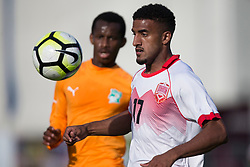 AUBAGNE, FRANCE - Tuesday, May 30, 2017: Bahrain's Aref Almarran Abdulaziz in action during the Toulon Tournament Group B match between Bahrain and Ivory Coast at the Stade de Lattre-de-Tassigny. (Pic by Laura Malkin/Propaganda)