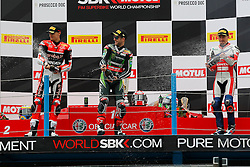 16.04.2016, TT Circuit, Assen, NED, MOTUL FIM Superbike World Championship, Assen, im Bild 1. #1 Jonathan Rea ( GBR ) Kawasaki, 2. # 7 Chaz Davies ( GBR ) Ducati,3.#69 Nicky Hayden ( USA ) Honda // during the MOTUL FIM Superbike World Championship at the TT Circuit in Assen, Netherlands on 2016/04/16. EXPA Pictures © 2016, PhotoCredit: EXPA/ Eibner-Pressefoto/ FSA<br /> <br /> *****ATTENTION - OUT of GER*****