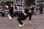 CircleNerdz performs on the dance floor of the main stage on Courthouse Square during Spring Urban Nights in downtown Dayton, Friday, May 13, 2011.