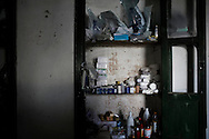 SYRIA - Al Qsair. This picture shows shelfs in a room sets as surgery room in an undisclosed location in the outskirts of Al Qsair on January 29, 2012. Al Qsair is a small town of 40000 inhabitants, located 25Km south-west of Homs. The town is besieged since the beginning of November and so far it counts 65 dead. ALESSIO ROMENZI