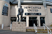 Sir Bobby Robson statue at St James's Park during the EFL Sky Bet Championship match between Newcastle United and Burton Albion at St. James's Park, Newcastle, England on 5 April 2017. Photo by Richard Holmes.