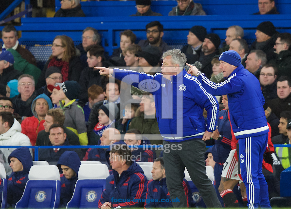 Manager Guus Hiddink of Chelsea during the Barclays Premier League match at Stamford Bridge, London<br /> Picture by Alan Stanford/Focus Images Ltd +44 7915 056117<br /> 07/02/2016