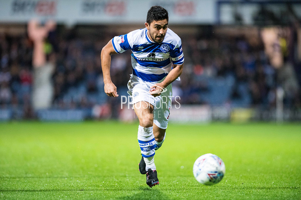 QPR (21) Massimo Luongo during the EFL Sky Bet Championship match between Queens Park Rangers and Fulham at the Loftus Road Stadium, London, England on 29 September 2017. Photo by Sebastian Frej.