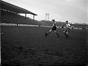 17/01/1954<br /> 01/17/1954<br /> 17 January 1954<br /> Soccer: Drumcondra v Evergreen at Tolka Park, Dublin.