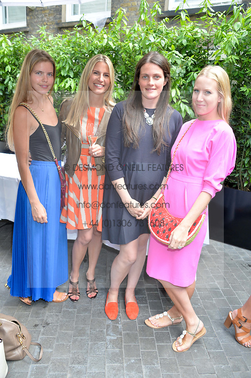 Left to right, KATIE REDMAN, HOLLY ADCOCK, ALICE DEEN and ALICE NAYLOR-LEYLAND at a ladies lunch at Toto's, Walton Street, London on 12th June 2014.