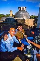 Smoking water pipes, Osmanli Carsisi, Konya, Turkey