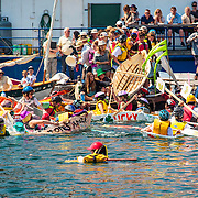 The carnage at the end of the Quick 'n' Dirty Boat Race, Australian Wooden Boat Festival  (AWBF) 2013, Hobart, Tasmania