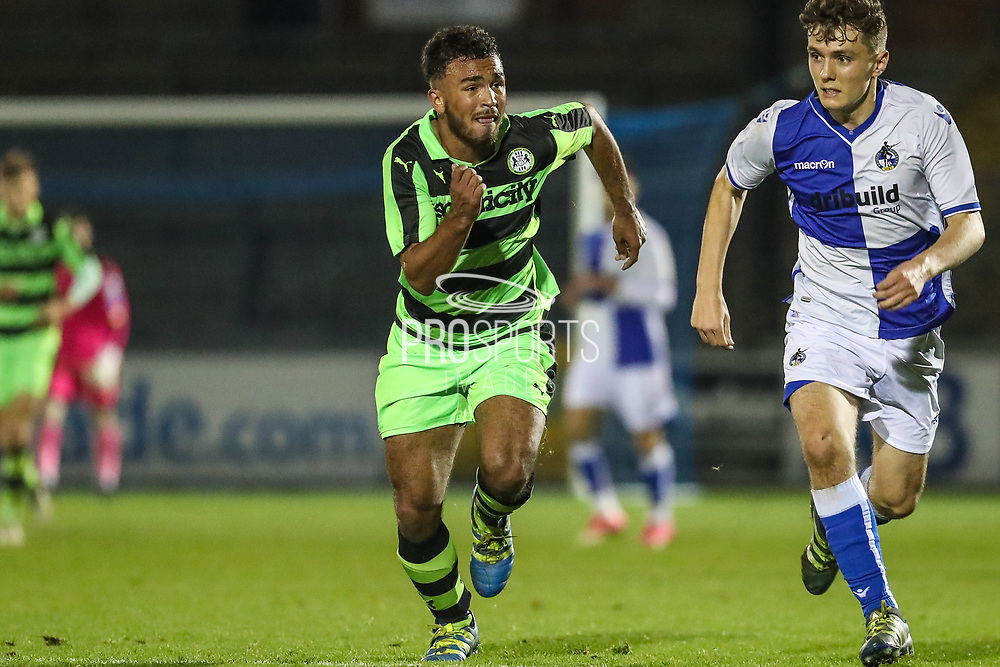 Forest Green Rovers Shubbs Kai(9) runs forward during the The FA Youth Cup match between Bristol Rovers and Forest Green Rovers at the Memorial Stadium, Bristol, England on 2 November 2017. Photo by Shane Healey.