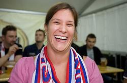 Maja Mastnak  before the EuroBasket 2009 Quaterfinals match between Slovenia and Croatia, on September 18, 2009, in Arena Spodek, Katowice, Poland.  (Photo by Vid Ponikvar / Sportida)