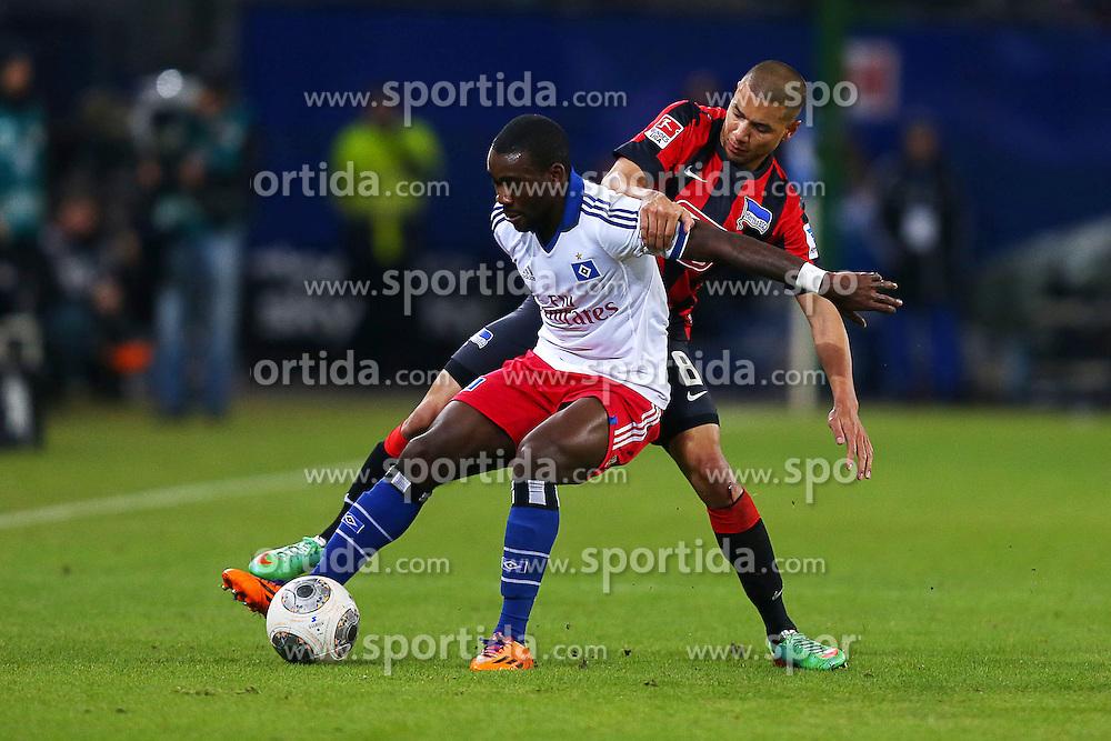 Football: Germany, 1. Bundesliga<br /> Ola John (Hamburger SV, HSV), Marcel Ndjeng (Hertha BSC Berlin)
