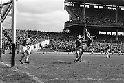 30/04/1967<br /> 04/30/1967<br /> 30 April 1967<br /> National Hurling League, Division II Final: Meath v Kerry at Croke Park, Dublin.<br /> Meath goalie, J. Smith, on the left.